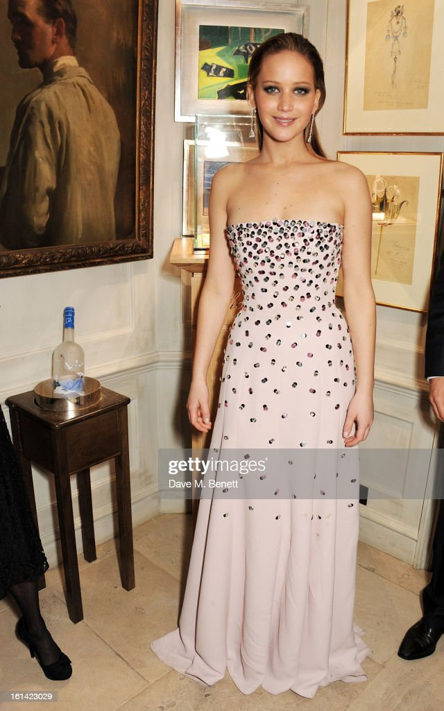 Jennifer Lawrence attends The Weinstein Company and Entertainment Film Distributors Post-BAFTA Party hosted by Chopard and Grey Goose at LouLou's on February 10, 2013 in London, England.