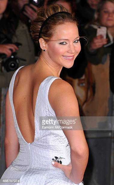 Jennifer Lawrence attends the World Premiere of 'The Hunger Games Mockingjay Part 1' at Odeon Leicester Square on November 10 2014 in London England