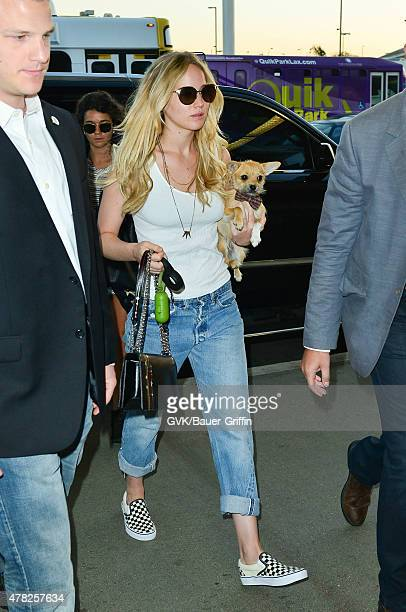 Jennifer Lawrence is seen at LAX on June 24 2015 in Los Angeles California