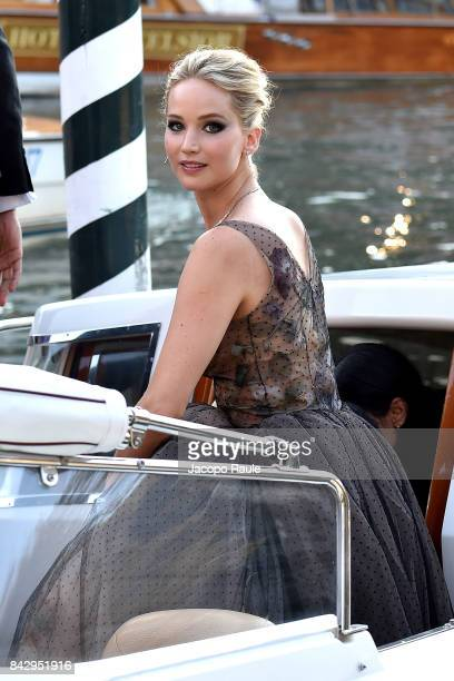 Jennifer Lawrence is seen during the 74th Venice Film Festival on September 5 2017 in Venice Italy