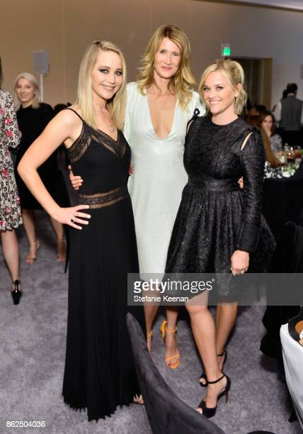 Jennifer Lawrence Laura Dern and Reese Witherspoon attend ELLE's 24th Annual Women in Hollywood Celebration presented by L'Oreal Paris Real Is Rare...