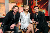 AMERICA Jennifer Lawrence Liam Hemsworth and Josh Hutcherson of 'The Hunger Games' are guests on 'Good Morning America' 11/13/14 airing on the ABC...