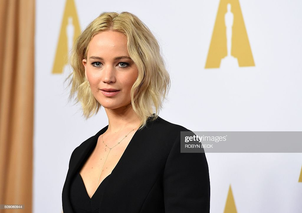 Jennifer Lawrence, nominee for best actress in a leading role, arrives at the 88th Oscar Nominees Luncheon in Beverly Hills, California, February 8, 2016 / AFP / ROBYN BECK