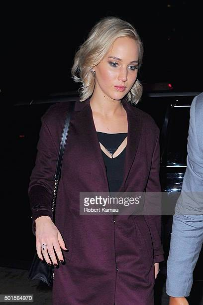 Jennifer Lawrence seen out on December 15 2015 in New York City