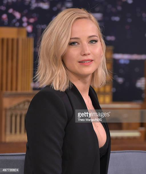 Jennifer Lawrence Visits 'The Tonight Show Starring Jimmy Fallon' at Rockefeller Center on November 18 2015 in New York City