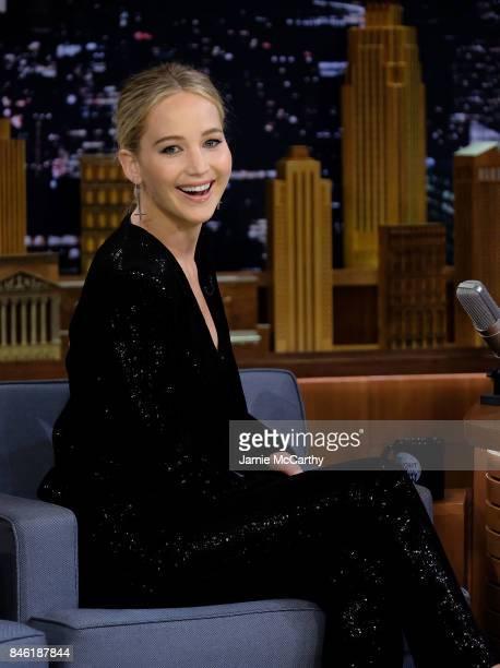 Jennifer Lawrence visits 'The Tonight Show Starring Jimmy Fallon' at Rockefeller Center on September 12 2017 in New York City