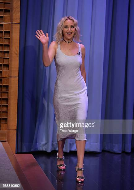 Jennifer Lawrence Visits 'The Tonight Show Starring Jimmy Fallon' on May 23 2016 in New York City