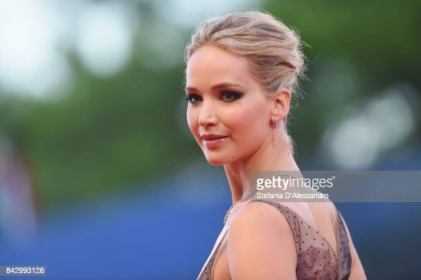 Jennifer Lawrence walks the red carpet ahead of the 'mother' screening during the 74th Venice Film Festival at Sala Grande on September 5 2017 in...