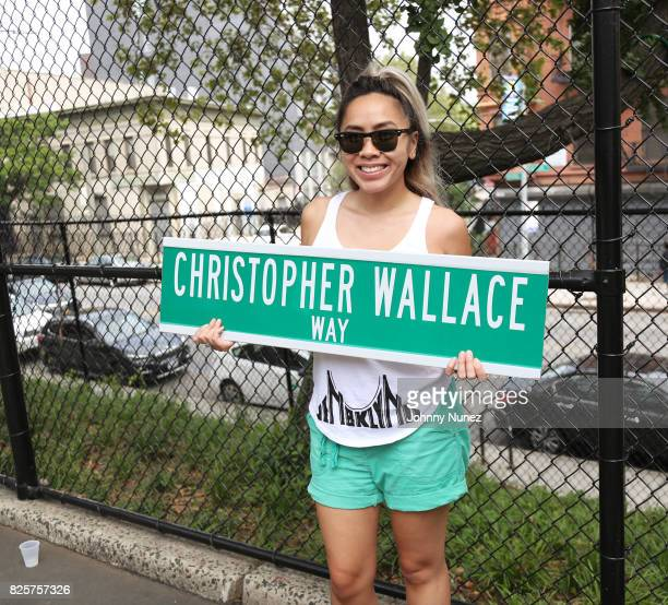 Jennifer Le attends the ribbon cutting ceremony at Crispus Attucks Playground on August 2 2017 in the Brooklyn borough of New York City NYC Parks has...