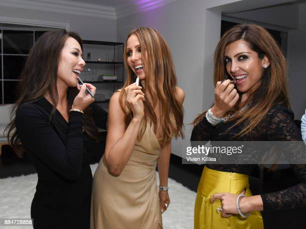 Jennifer Lee founder and creative director of Nude Envie Isabel Madison and Priyanka Khanna attend Nude Envie Holiday/Launch Party Launching New...