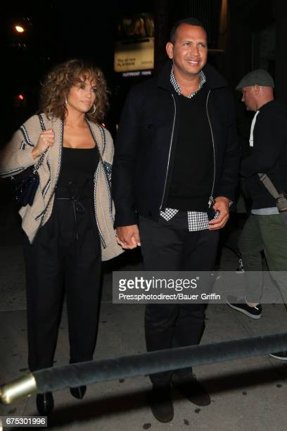 Jennifer Lopez and Alex Rodriguez are seen on April 30 2017 in New York City