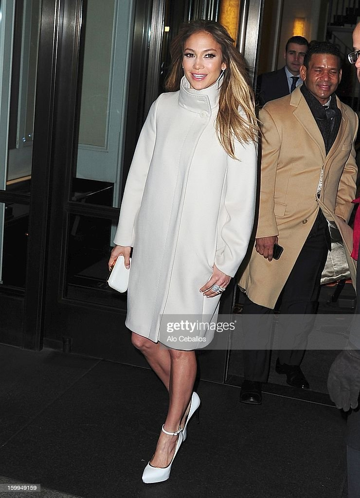 Jennifer Lopez and Benny Medina are seen on January 23, 2013 in New York City.
