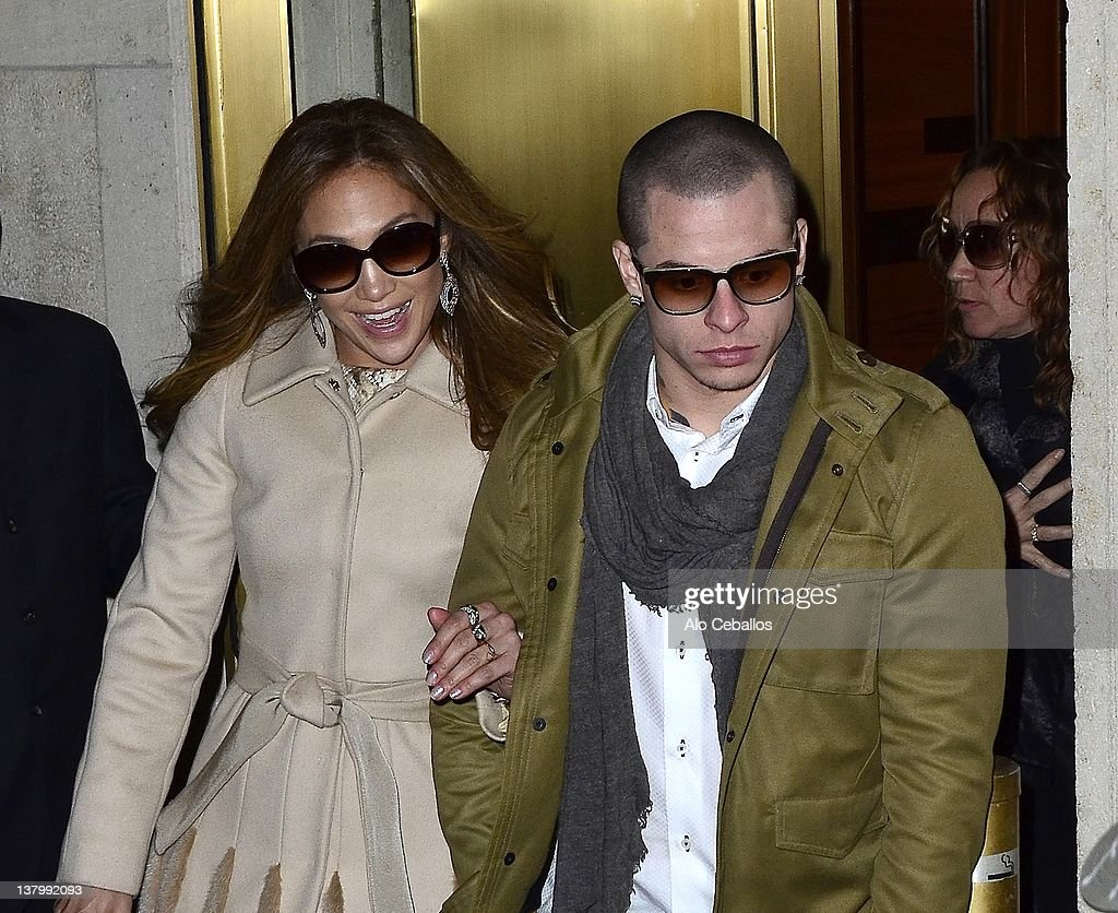 Jennifer Lopez and Casper Smart are seen leaving Cipriani restaurant on January 30 2012 in New York City