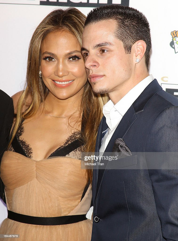 Jennifer Lopez and Casper Smart arrive at Celebrity Fight Night XIX held at JW Marriott Desert Ridge Resort Spa on March 23 2013 in Phoenix Arizona