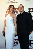 Jennifer Lopez and Casper Smart arrive at the premiere of Film District's 'Parker' at Planet Hollywood Resort Casino on January 24 2013 in Las Vegas...
