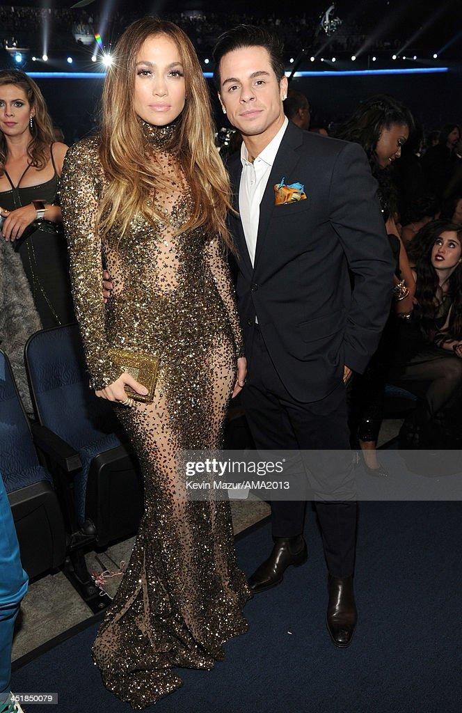 Jennifer Lopez and Casper Smart attend 2013 American Music Awards at Nokia Theatre LA Live on November 24 2013 in Los Angeles California