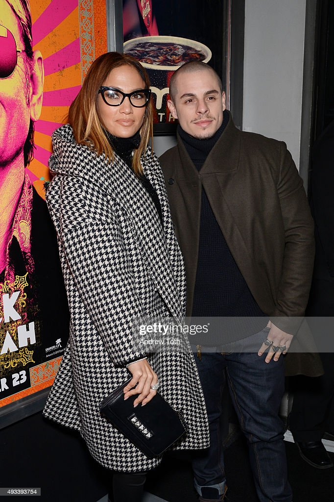 Jennifer Lopez and Casper Smart attend 'Rock The Kasbah' New York premiere at AMC Loews Lincoln Square 13 theater on October 19, 2015 in New York City.