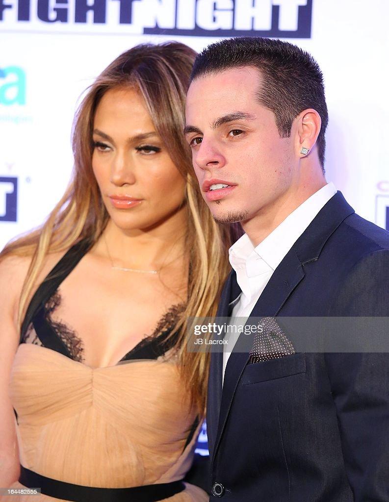 Jennifer Lopez and Casper Smart attend the Muhammad Ali's Celebrity Fight Night XIX held at JW Marriott Desert Ridge Resort Spa on March 23 2013 in...