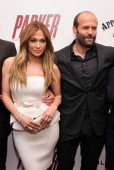 Jennifer Lopez and Jason Statham attend a screening of 'Parker' hosted by FilmDistrict The Cinema Society L'Oreal Paris and Appleton Estate at MOMA...