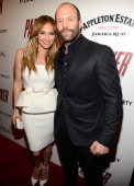 Jennifer Lopez and Jason Statham attend the FilmDistrict with The Cinema Society L'Oreal Paris Appleton Estate screening of 'Parker' at the Museum of...