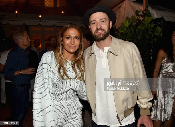 Jennifer Lopez and Justin Timberlake attend Apollo in the Hamptons 2017 hosted by Ronald O Perelman at The Creeks on August 12 2017 in East Hampton...