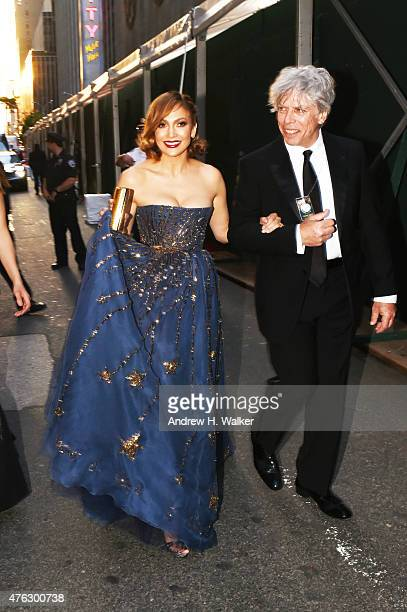 Jennifer Lopez and Ken Sunshine attend the 2015 Tony Awards at Radio City Music Hall on June 7 2015 in New York City