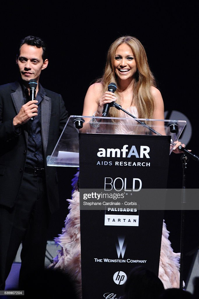 Jennifer Lopez and Marc Anthony attend the '2010 amfAR's Cinema Against AIDS Gala'