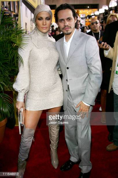 Jennifer Lopez and Marc Anthony during 2006 MTV Video Music Awards MTVcom Red Carpet at Radio City Music Hall in New York City New York United States