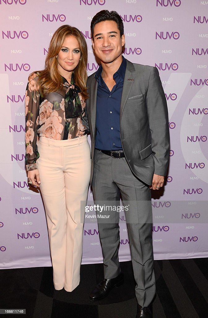 Jennifer Lopez and Mario Lopez backstage at the NUTOtv 2013 Upfront Event. NUVOtv and Chief Creative Officer Jennifer Lopez present 2013-2014 Programming Slate at New York CityÊUpfront presentation at The Edison Ballroom on May 15, 2013 in New York City.