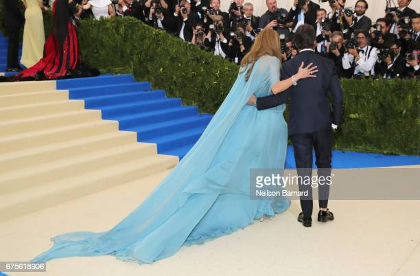 Jennifer Lopez and Pierpaolo Piccioli attend the 'Rei Kawakubo/Comme des Garcons Art Of The InBetween' Costume Institute Gala at Metropolitan Museum...