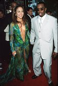 Jennifer Lopez and Puff Daddy at the Staples Center in Los Angeles California