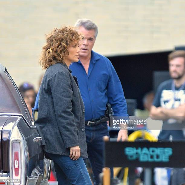 Jennifer Lopez and Ray Liotta seen at a 'Shades of Blue' film set in Queens on August 23 2017 in New York City