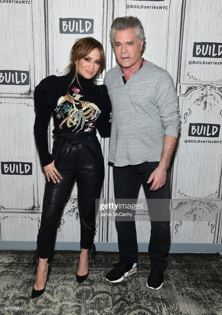 Jennifer Lopez and Ray Liotta visit the Build Series Presents Jennifer Lopez And Ray Liotta Discussing 'Shades Of Blue' at Build Studio on March 2, 2017 in New York City.