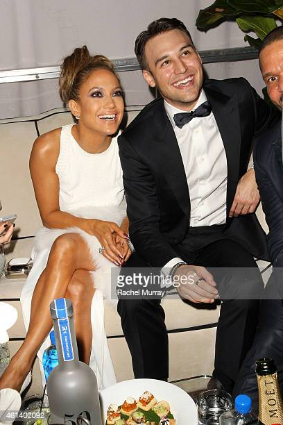 Jennifer Lopez and Ryan Guzman attend The Weinstein Company Netflix's 2015 Golden Globes After Party presented by FIJI Water Lexus Laura Mercier and...