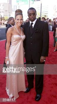 Jennifer Lopez and Sean 'Puffy' Combs arrive at the 1st Annual Latin Grammy Awards broadcast on Wednesday September 13 2000 at the Staples Center in...