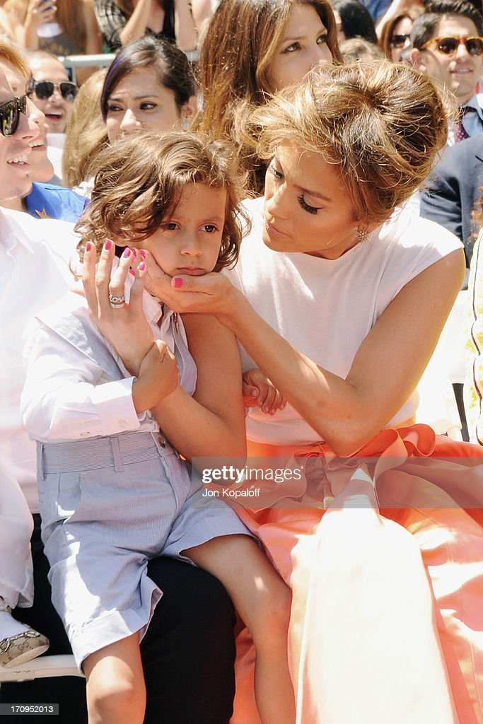 <a gi-track='captionPersonalityLinkClicked' href=/galleries/search?phrase=Jennifer+Lopez&family=editorial&specificpeople=201784 ng-click='$event.stopPropagation()'>Jennifer Lopez</a> and son Maximilian Muniz at <a gi-track='captionPersonalityLinkClicked' href=/galleries/search?phrase=Jennifer+Lopez&family=editorial&specificpeople=201784 ng-click='$event.stopPropagation()'>Jennifer Lopez</a> Honored With Star On The Hollywood Walk Of Fame on June 20, 2013 in Hollywood, California.