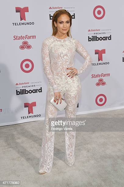 Jennifer Lopez arrives at 2015 Billboard Latin Music Awards presented bu State Farm on Telemundo at Bank United Center on April 30 2015 in Miami...