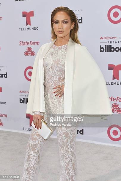 Jennifer Lopez arrives at 2015 Billboard Latin Music Awards presented bu State Farm on Telemundo at Bank United Center on April 30 2015 in Miami...