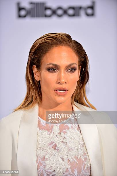Jennifer Lopez arrives at 2015 Billboard Latin Music Awards presented by State Farm on Telemundo at Bank United Center on April 30 2015 in Miami...