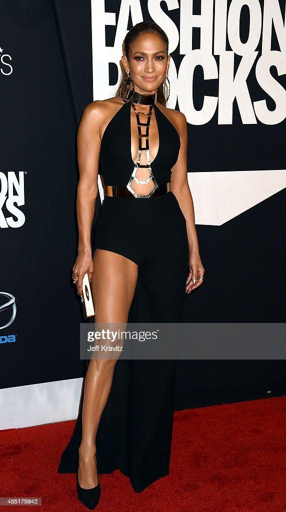 Jennifer Lopez arrives at Barclays Center for Fashion Rocks on September 9 2014 in New York City