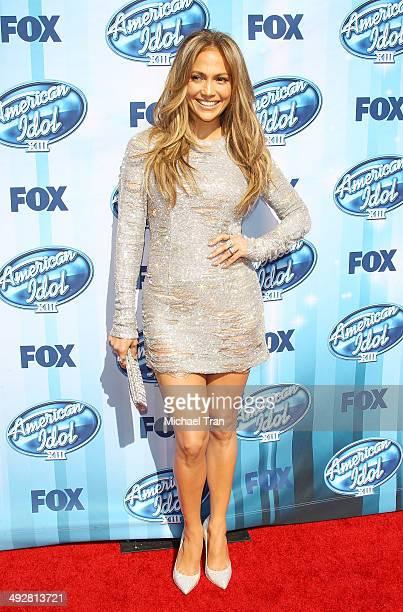 Jennifer Lopez arrives at Fox's 'American Idol' XIII Finale held at Nokia Theatre LA Live on May 21 2014 in Los Angeles California