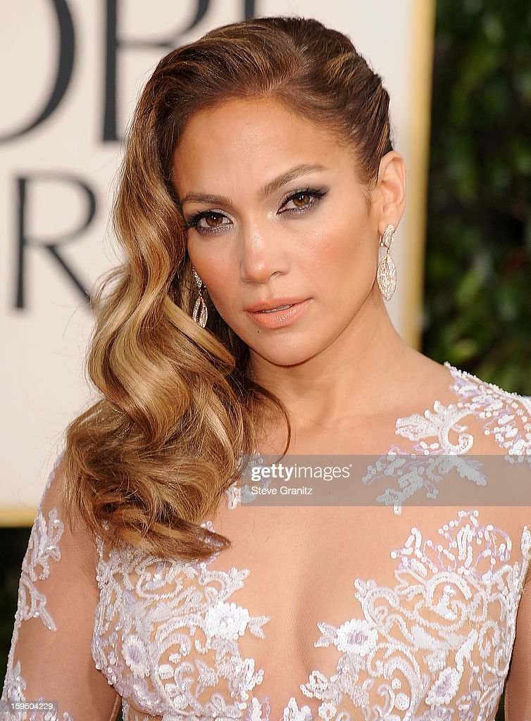 Jennifer Lopez arrives at the 70th Annual Golden Globe Awards at The Beverly Hilton Hotel on January 13 2013 in Beverly Hills California