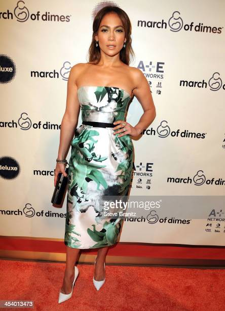 Jennifer Lopez arrives at the March Of Dimes' Celebration Of Babies Hollywood Luncheon at Beverly Hills Hotel on December 6 2013 in Beverly Hills...