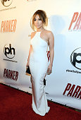 Jennifer Lopez arrives at the premiere of Film District's 'Parker' at Planet Hollywood Resort Casino on January 24 2013 in Las Vegas Nevada