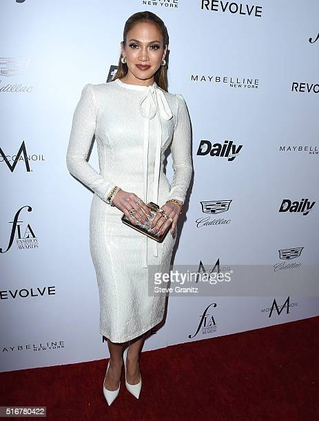 Jennifer Lopez arrives at the The Daily Front Row 'Fashion Los Angeles Awards' 2016 at Sunset Tower Hotel on March 20 2016 in West Hollywood...