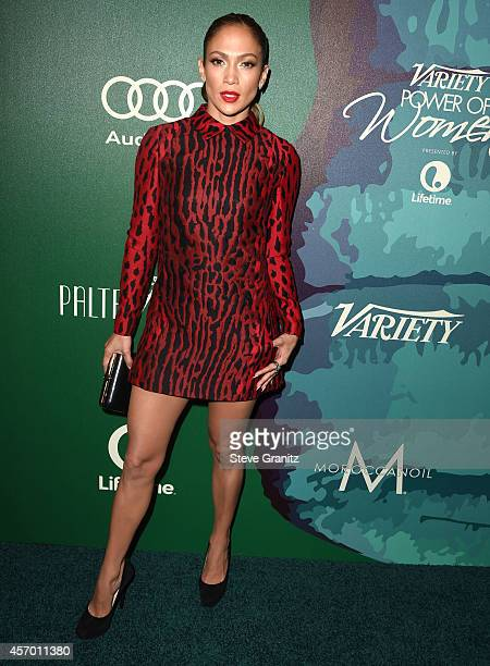 Jennifer Lopez arrives at the Variety's 2014 Power Of Women Event In LA Presented By Lifetime at the Beverly Wilshire Four Seasons Hotel on October...