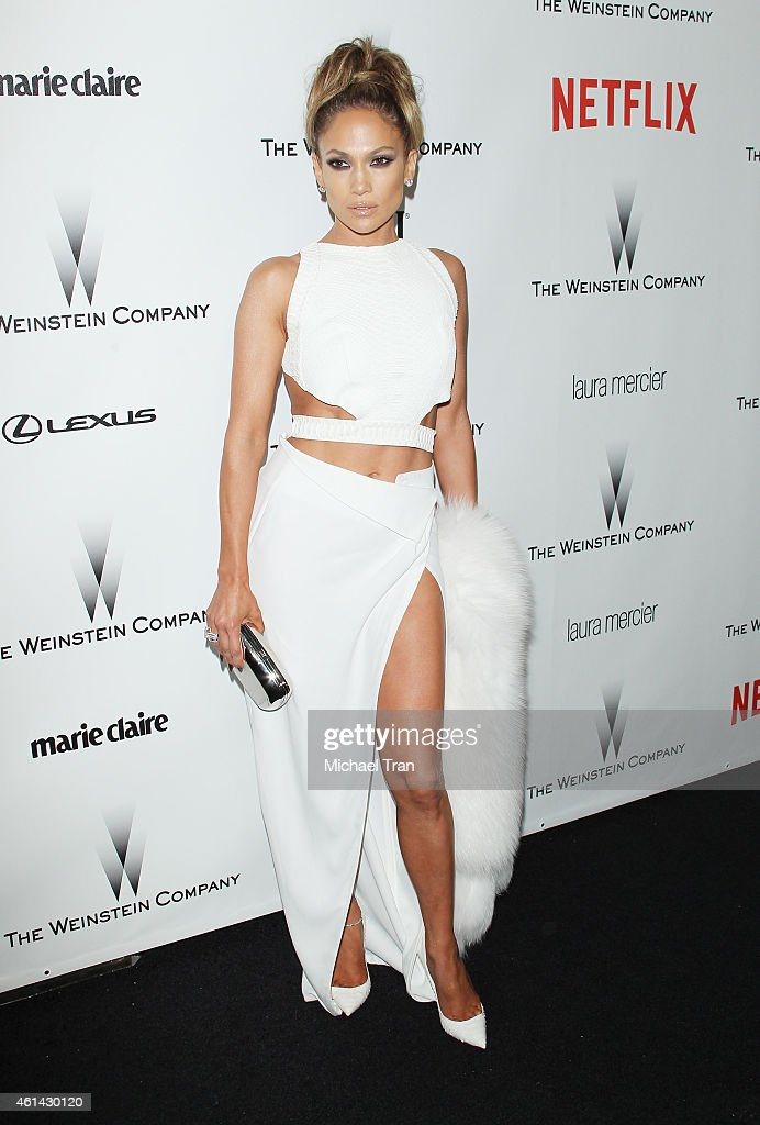 Jennifer Lopez arrives at The Weinstein Company and Netflix Golden Globes afterparty held on January 11 2015 in Beverly Hills California