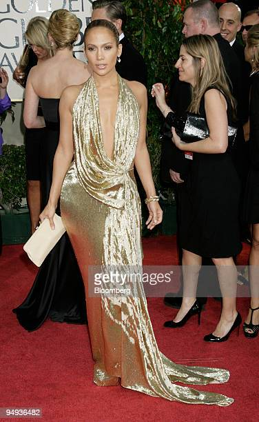 Jennifer Lopez arrives for the 66th Annual Golden Globe Awards in Beverly Hills California US on Sunday Jan 11 2009 Heath Ledger received a...