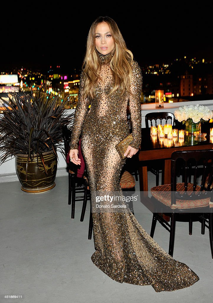Jennifer Lopez attends a private dinner in her honor hosted by Dean and Dan of Dsquared2 at Chateau Marmont on November 24, 2013 in Los Angeles, California.