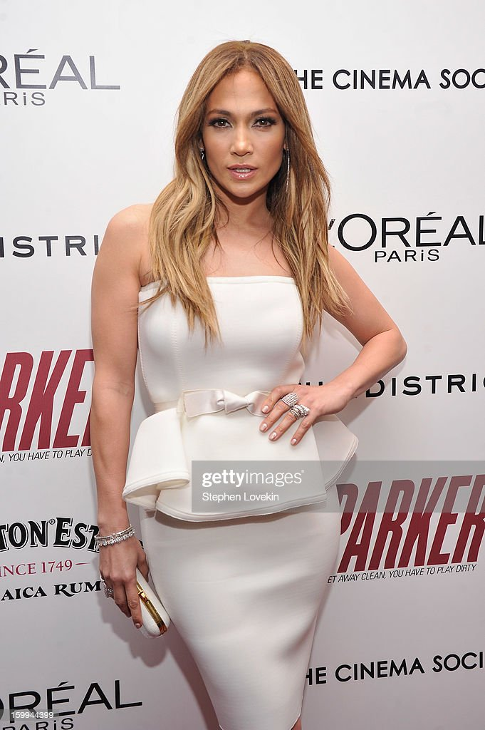 <a gi-track='captionPersonalityLinkClicked' href=/galleries/search?phrase=Jennifer+Lopez&family=editorial&specificpeople=201784 ng-click='$event.stopPropagation()'>Jennifer Lopez</a> attends a screening of 'Parker' hosted by FilmDistrict, The Cinema Society, L'Oreal Paris and Appleton Estate at MOMA on January 23, 2013 in New York City.